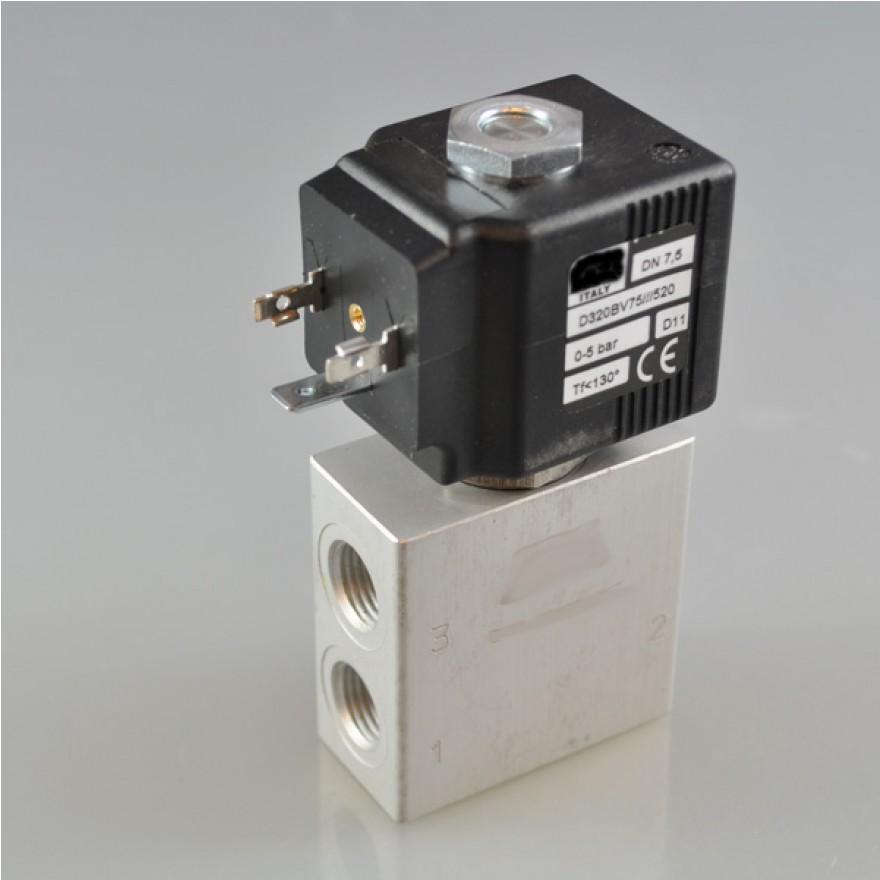 Elektro - Magnetventil 3/2 Wege G1/4 Zoll, V75