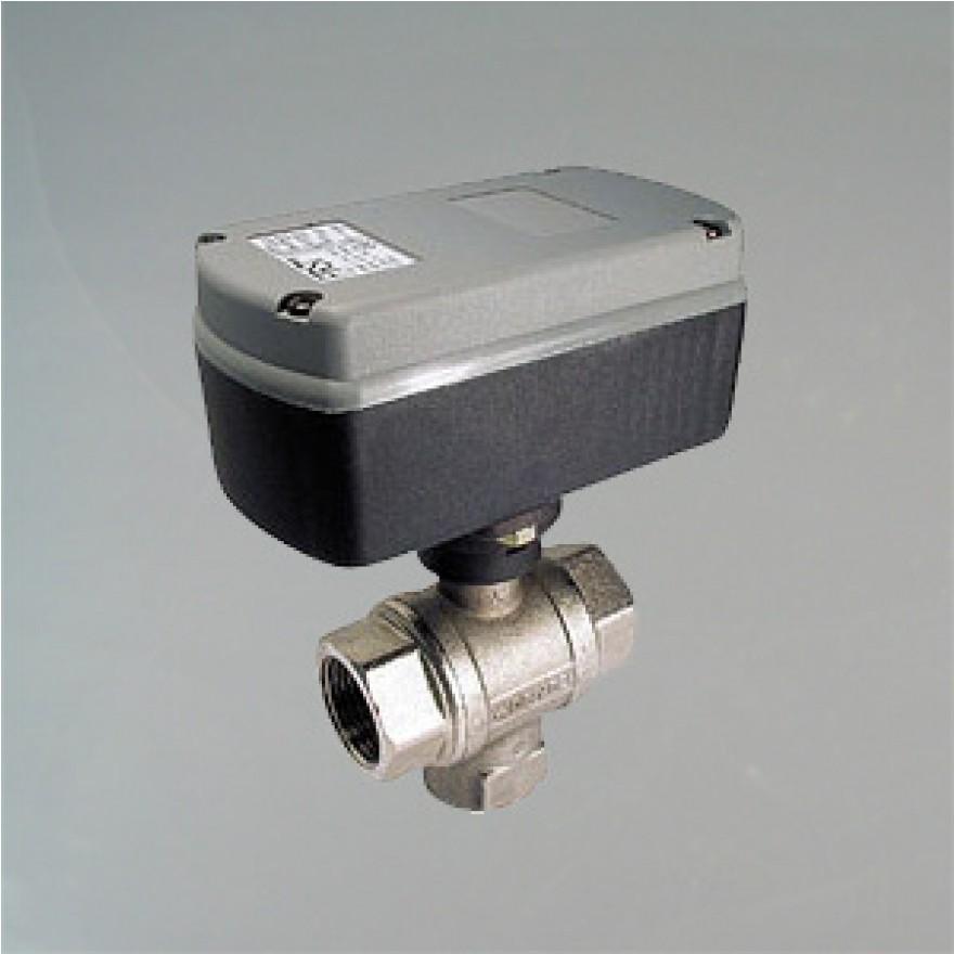 3 Wege Kugelventil elektrisch gesteuert G1 Zoll DN 25 EMV110-710-4