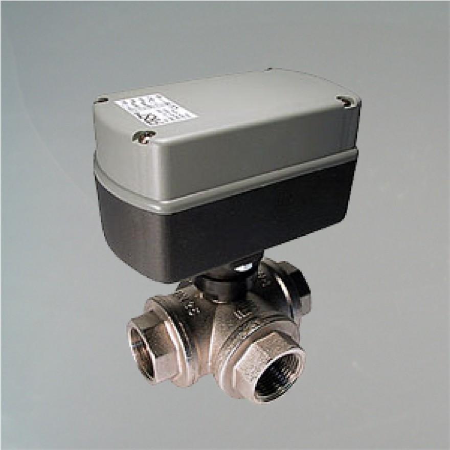 3 Wege Kugelventil elektrisch gesteuert G1 Zoll DN 25 (EMV110-830-4)