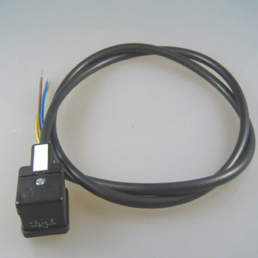 anschlu kabel stecker form a mit diode f r schwingkolbenpumpen. Black Bedroom Furniture Sets. Home Design Ideas