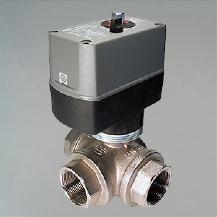 3 Wege Kugelventil elektrisch gesteuert G2 Zoll DN 50