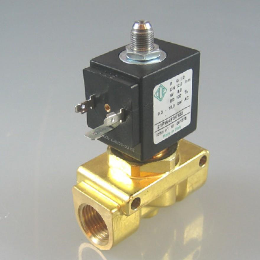 Elektro-Magnetventil, 2/2 Wege, N.O., Kolbenschieberventil G1/2 Zoll